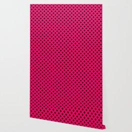 Black Crosses on Hot Neon Pink Wallpaper