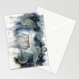 midgard snake Stationery Cards