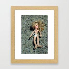 Doll on the Road Framed Art Print