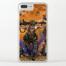 War Machine - The Nam Dude Clear iPhone Case