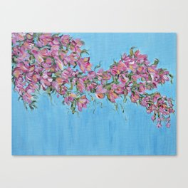 Cherry Blossoms, Pink Flower Wall Art Prints, Impressionism Canvas Print