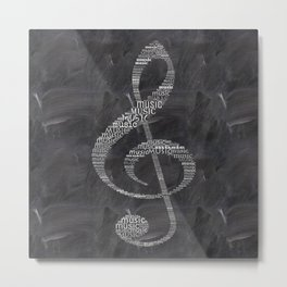 Sol key on chalkboard Metal Print