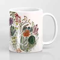 succulents Mugs featuring Succulents  by Hannah Margaret Illustrations