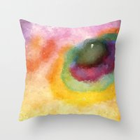 outer space Throw Pillows featuring Outer Space by Alexandre Reis