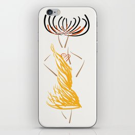 The gold evening dress iPhone Skin