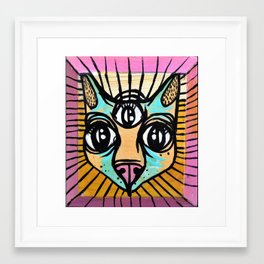 the all seeing cat Framed Art Print