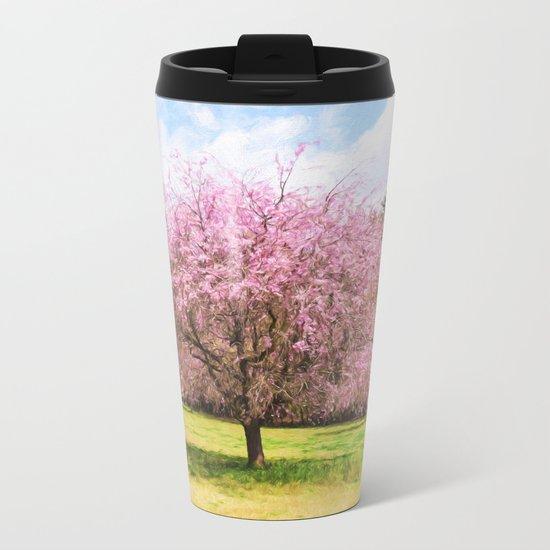 Beautiful cherry blossoms Metal Travel Mug