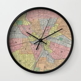 Vintage Map of Rochester NY (1901) Wall Clock