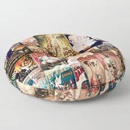 Circus Collage Floor Pillow