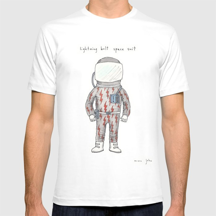 lightning bolt space suit T-shirt