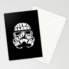Stormtrooper in typography Stationery Cards