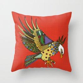 jewel eagle fire Throw Pillow
