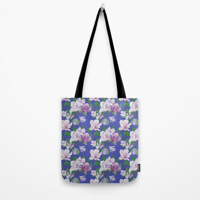 Magnolia Floral Print Tote Bag