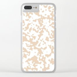 Spots - White and Pastel Brown Clear iPhone Case
