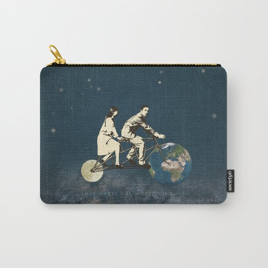 Love Makes The World Go Round Carry-All Pouch