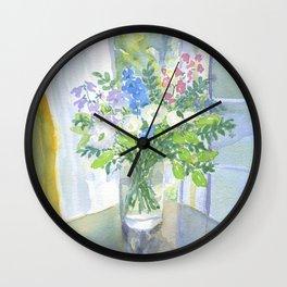 JOAN'S FLOWERS Wall Clock