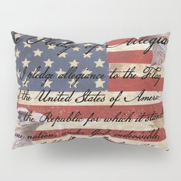 Rustic Patriotic Flag - Pledge of Allegiance Home Decor Art A332 Pillow Sham