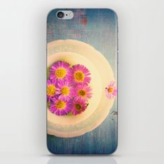 Spring Flowers on Vintage Table iPhone & iPod Skin