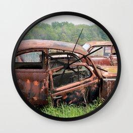 Old Car Graveyard Wall Clock