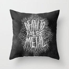 FALSE METAL Throw Pillow