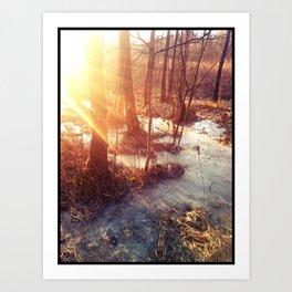 Sun and Ice Art Print