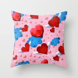 Hearts pattern for textile or wallpaper Throw Pillow