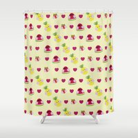 fruits Shower Curtains featuring Fruits by Jackiemtmtz