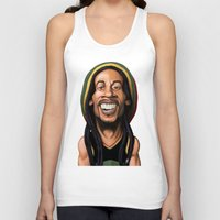 marley Tank Tops featuring Celebrity Sunday - Robert Nesta Marley by rob art | illustration