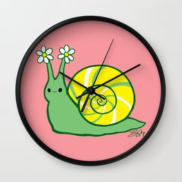Sweetie Greenie Snail Wall Clock