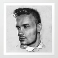 liam payne Art Prints featuring Liam Payne drawing by Adele_F