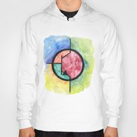 transistor Hoodies featuring Watercolor NPN BJT by EEShirts