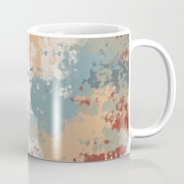 Rustic Colours Abstract Pattern Coffee Mug