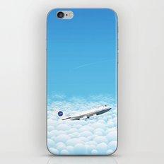 Plane through clouds iPhone & iPod Skin