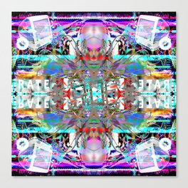 RATE RAVE Canvas Print