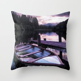 Summer's Evening On Loch Ard Throw Pillow