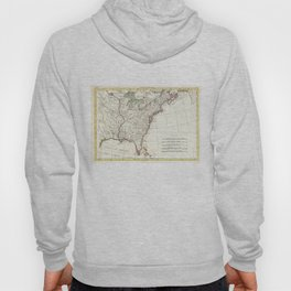 Thirteen Colonies Vintage Map (1776) Hoody
