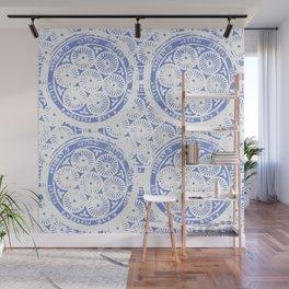cornflower blue Wall Mural
