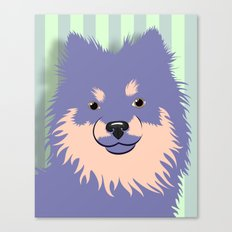 Olie the Pomeranian in Purple Canvas Print