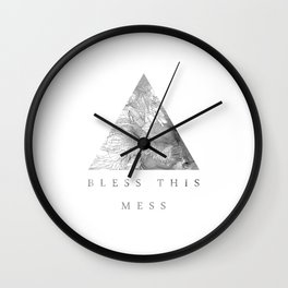 Bless this mess Wall Clock