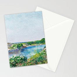 Frederick Childe Hassam - The Little Pond, Appledore - Digital Remastered Edition Stationery Cards