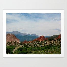 Garden of the Gods in Colorado Springs Art Print