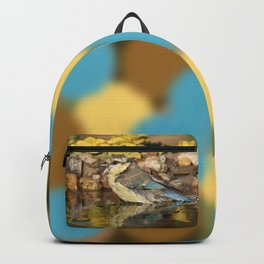 young bird bathes Backpack