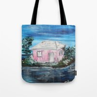 home sweet home Tote Bags featuring home by sladja