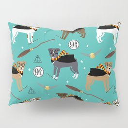 Pitbull witch wizard magic dog breed gifts Pillow Sham