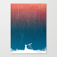 Meteor Rain (light version) Canvas Print