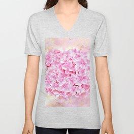 Pink Hydrangea Unisex V-Neck