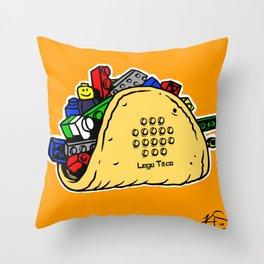 Lego Taco Throw Pillow