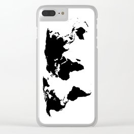 World Outline Clear iPhone Case