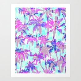 Maui Palm {Pink} Art Print