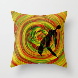 color tunder Throw Pillow